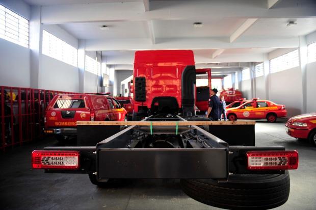 Caminhão dos bombeiros de Caxias comprado há dois anos nunca foi usado Lucas Amorelli  / Agência RBS /Agência RBS