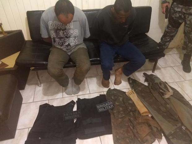 BM captura assaltantes envolvidos em ataque a bancos de Ibiraiaras Brigada Militar  / Divulgação /Divulgação