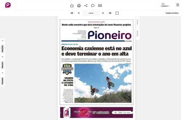 Pioneiro melhora acesso ao jornal digital Arte / Pioneiro/Pioneiro