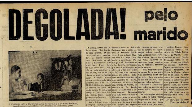Nem todos os homens que matavam mulheres em Caxias eram condenados na Justiça Reprodução / Jornal Pioneiro - 10/03/1951/Jornal Pioneiro - 10/03/1951