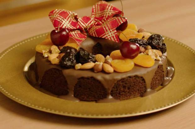 Já pensando na sobremesa de Natal? Prove essa guirlanda de bolo de pão de mel União / Divulgação/Divulgação