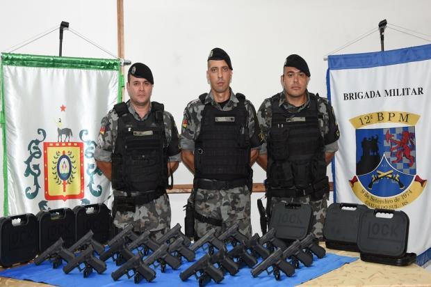 BM de Caxias do Sul recebe doação de 20 pistolas austríacas Brigada Militar / Divulgação/Divulgação