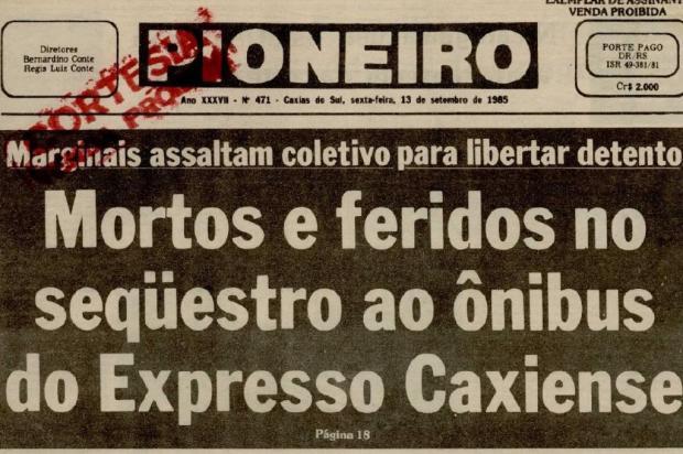 Das pequenas quadrilhas às facções: como o crime dominou Caxias do Sul Reprodução/Jornal Pioneiro - 13/09/1985