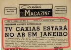 Memória: TV Caxias - Canal 8 no Caxias Magazine em 1968 Centro de Memória da Câmara de Vereadores de Caxias do Sul / reprodução/reprodução