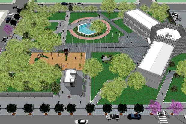 Praça da Emancipação, em Farroupilha, será revitalizada Secretaria de Planejamento de Farroupilha/Divulgação