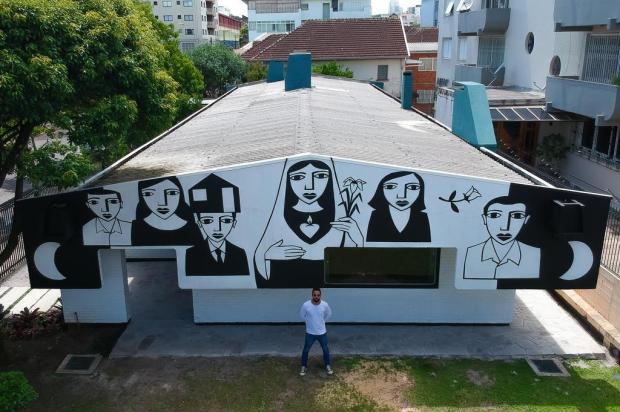 Grafite inspirado em cordel e peças do Projeto Ararinha são atrações no Instituto SAMba, em Caxias Rafael Willms/Divulgação