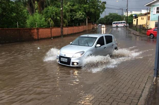 Chuva produz pontos de água acumulada e dificulta trânsito de pedestres e veículos em Caxias Andrei Nesello/Divulgação