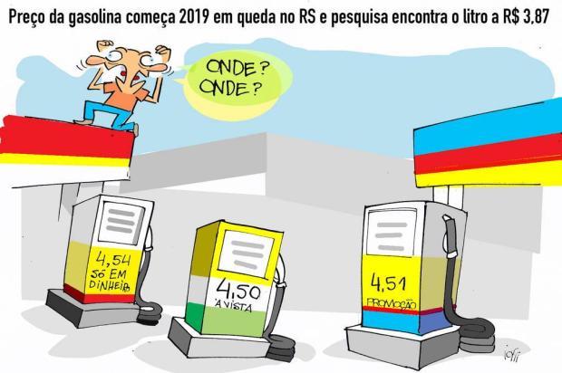 Iotti: preço da gasolina começa 2019 em queda Iotti/Iotti