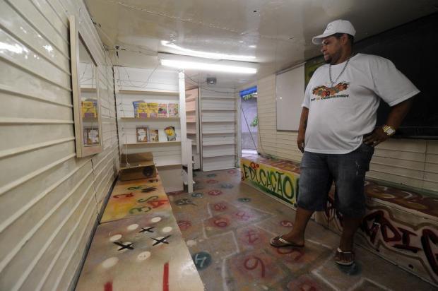 Baú de caminhão é transformado em Centro Cultural no bairro Reolon, em Caxias Marcelo Casagrande/Agencia RBS