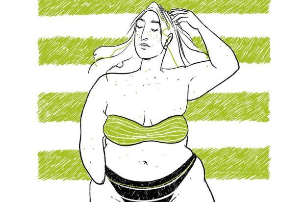 Artista cria ilustrações que propõem um verão sem padrões estéticos Arte de Sharisy Pezzi/Divulgação
