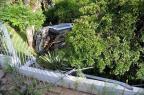 Carro invade terreno de residência em trecho urbano da BR-116, em Caxias do Sul Felipe Nyland/Agencia RBS