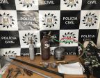 Investigação sobre furtos em banco leva apreensão de maçaricos em Caxias do Sul Polícia Civil / Divulgação/Divulgação