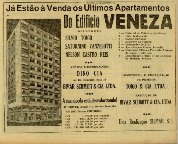Caxias nas páginas do Pioneiro em 1958 Centro de Memória da Câmara de Vereadores de Caxias do Sul / reprodução/reprodução