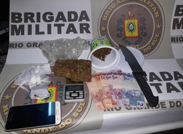 BM interrompe venda de maconha em parque de Farroupilha Brigada Militar / Divulgação/Divulgação