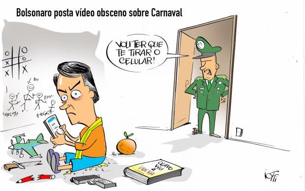 Iotti: Bolsonaro posta vídeo obsceno sobre o Carnaval Iotti / Agência RBS/Agência RBS