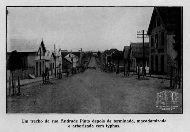 Rua Andrade Pinto: a atual Os Dezoito do Forte desde 1931 Arquivo Histórico Municipal João Spadari Adami / divulgação/divulgação