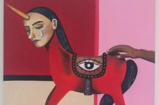 Exposição reúne obras de quatro mulheres artistas em Caxias Arte de Marina Luísa Almeida/Divulgação