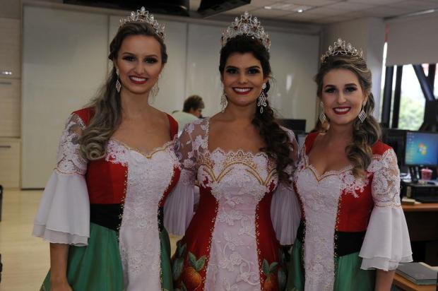 Soberanas da Femaçã, de Veranópolis, divulgam evento em Caxias do Sul Marcelo Casagrande/Agencia RBS