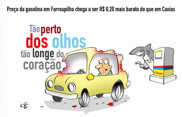 Iotti: preço da gasolina em Farroupilha Iotti / Agência RBS/Agência RBS