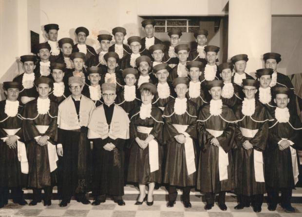 Formandos de Ciências Econômicas em 1963 Studio Geremia / Acervo CEDOC, IMHC-UCS, divulgação/Acervo CEDOC, IMHC-UCS, divulgação