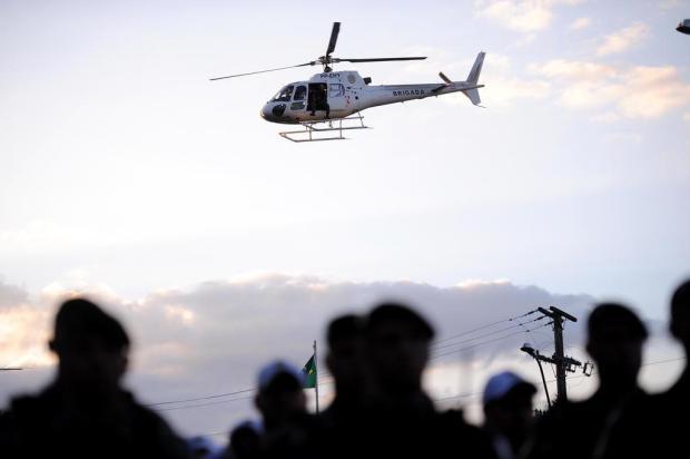 Após anúncio de integração, helicóptero reforça policiamento em Caxias do Sul Antonio Valiente/Agencia RBS