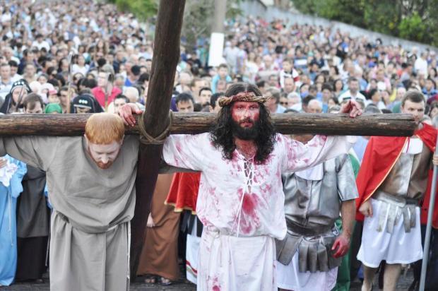 Conheça o homem que interpreta Jesus há 11 edições na Semana Santa de Garibaldi Michele Geremia/Divulgação
