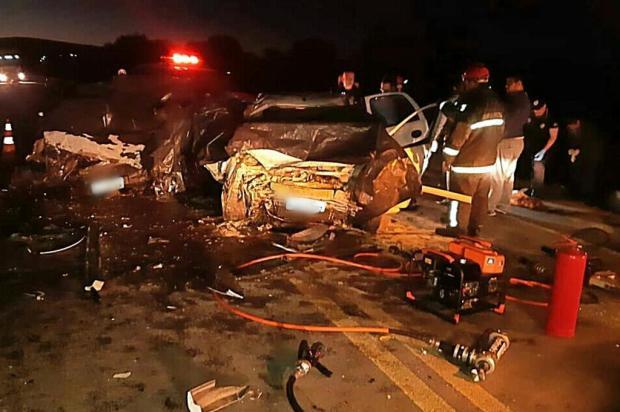 Testemunha relata que motorista dirigia em zigue-zague antes de causar acidente com seis mortes Polícia Rodoviária Federal/Divulgação