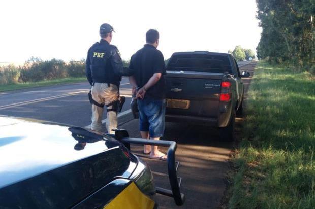 Motorista é flagrado, em Vacaria, trazendo cocaína de Santa Catarina PRF/Divulgação