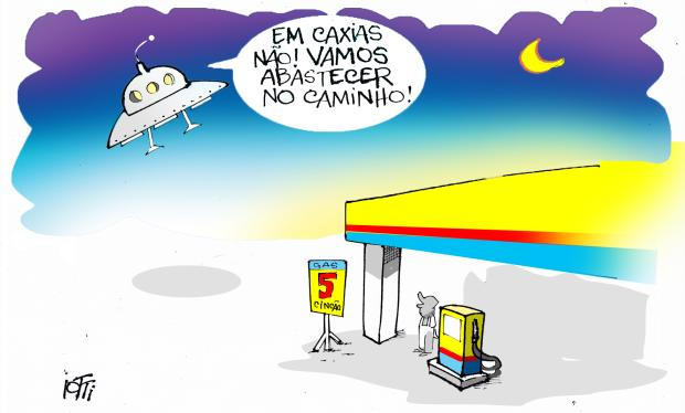Iotti: preço da gasolina passa dos R$ 5 em Caxias Iotti / Agência RBS/Agência RBS