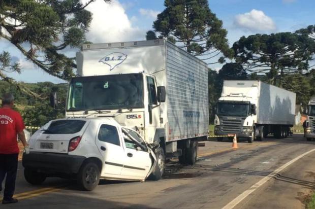 Motorista morre em colisão entre carro e caminhão em Ipê Brigada Militar/Divulgação