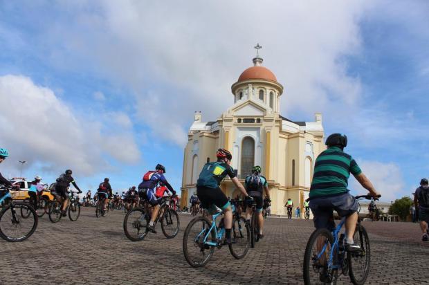 Crianças e ciclistas participam de programação pré-romaria de Caravaggio Santuário de Nossa Senhora de Caravaggio/Divulgação