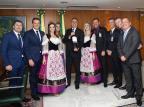 Presidente Jair Bolsonaro recebe convite para abertura da ExpoBento e Fenavinho Carolina Antunes/Divulgação