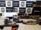 Policiais da Serra participam de operação que prendeu suspeitos de comércio ilegal de armas Polícia Civil/divulgação