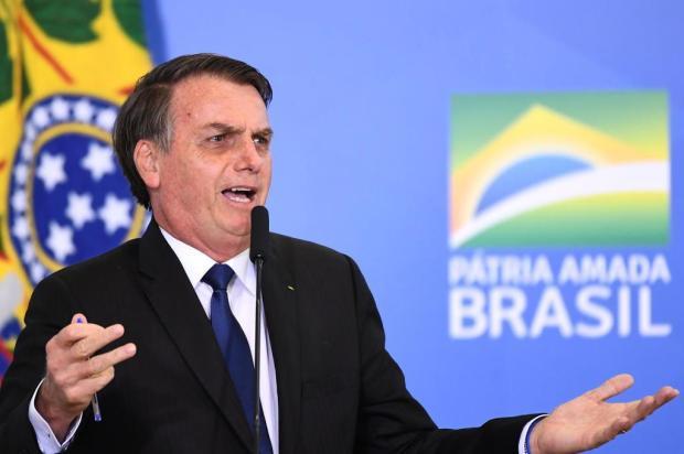 Jair Bolsonaro diz que atos de domingo são manifestações espontâneas da população EVARISTO SA/AFP