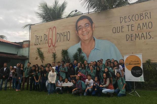 Fundação Marcopolo sela parceria com o Instituto Zeca Pagodinho Fundação Marcopolo/divulgação