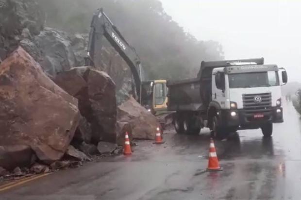 Rota do Sol seguirá parcialmente interrompida no final de semana Polícia Rodoviária Estadual  / Divulgação /Divulgação