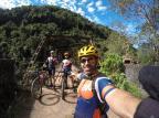 Três ciclistas são os primeiros a percorrer oficialmente os Caminhos de Caravaggio, na Serra Arquivo pessoal / divulgação/divulgação