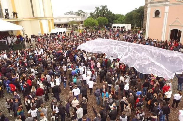 Romaria de Caravaggio reúne cerca de 30 mil fiéis na manhã deste sábado DCCI/SSP/divulgação