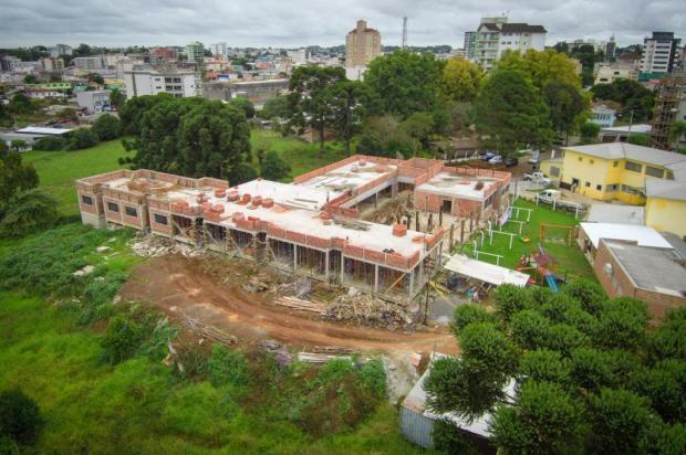 Dois anos após incêndio que matou idosas, obras em novo asilo de Vacaria estão 50% concluídas Maicon Maciel/Divulgação