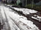 Granizo causa estragos em Vacaria Guarda Municipal de Vacaria/Divulgação