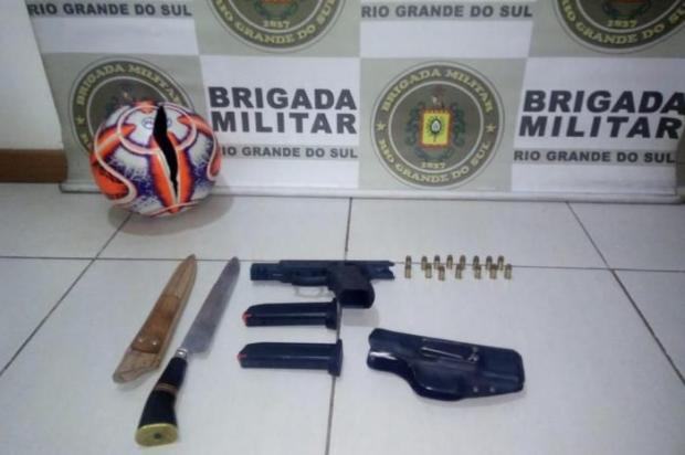 Jogo do Brasil-Far termina com denúncia de injúria racial e jogador preso Brigada Militar / Divulgação/Divulgação
