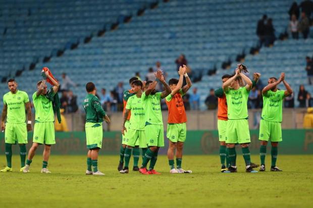 Após derrota na Arena, dever cumprido foi o discurso adotado pelos jogadores do Juventude Marco Favero/Agencia RBS