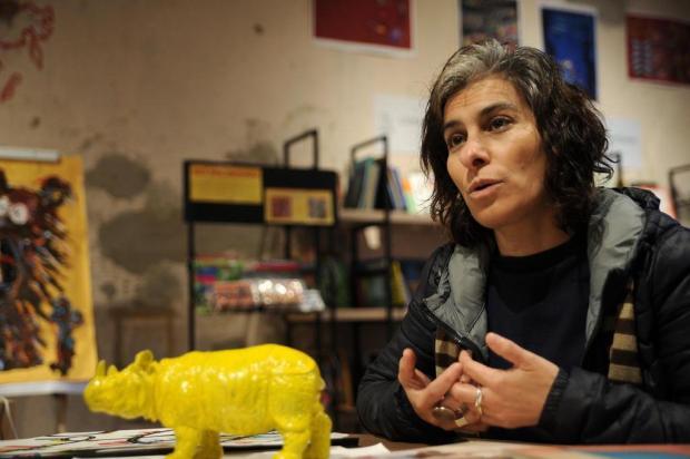 Pela primeira vez no Brasil, Mafalda Milhões defende democratização de bibliotecas Antonio Valiente/Agencia RBS