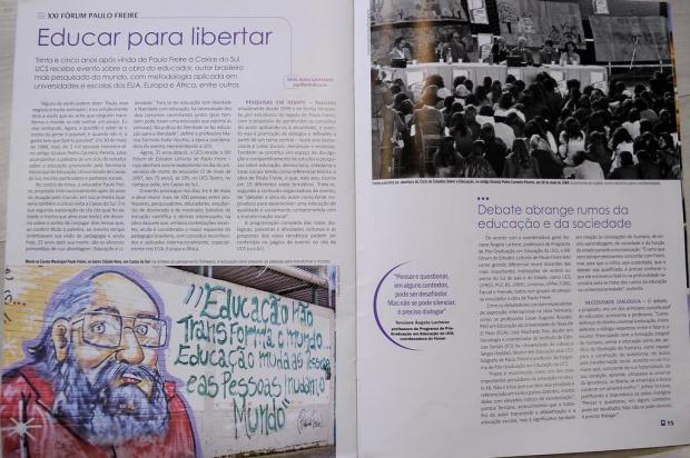 Para evitar desavenças ideológicas com o governo, UCS troca reportagem de Paulo Freire em revista Marcelo Casagrande/Agencia RBS
