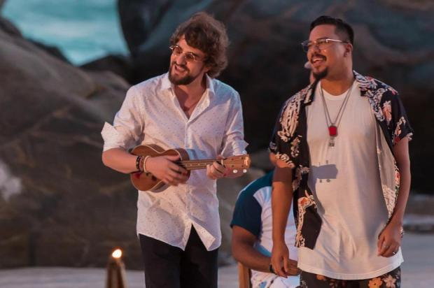 Músico caxiense Delão grava clipe com Sorriso Maroto no Rio Vitor Branco/Divulgação
