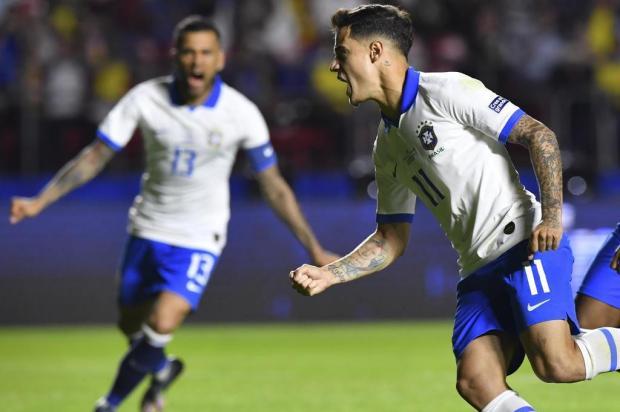 Com dois de Philippe Coutinho, Brasil vence a Bolívia na estreia da Copa América Nelson ALMEIDA/AFP