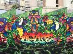 VÍDEO: confira o processo de pintura do mural gigante no Centro de Caxias Studio FLOP/Divulgação