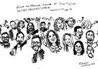 Banda Bardos da Pangeia cria caricatura para homenagear os fãs Arte de Ernani Cousandier/Divulgação
