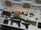 Trio é preso por tráfico, receptação e porte ilegal de armas em Caxias do Sul Divulgação / Brigada Militar/Brigada Militar