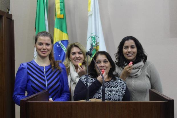 Vereadoras caxienses promovem apitaço alusivo ao Dia Internacional para Eliminação da Violência contra Mulheres Gabriela Bento Alves/Divulgação